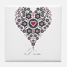 Love Tia Tile Coaster