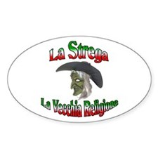 La Strega Oval Decal
