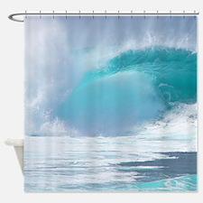 Hawaii Pipeline Surf Tropical Shower Curtain