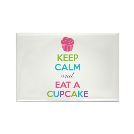 Keep calm and eat a cupcake Rectangle Magnet