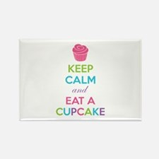 Keep calm and eat a cupcake Rectangle Magnet (10 p
