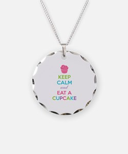 Keep calm and eat a cupcake Necklace