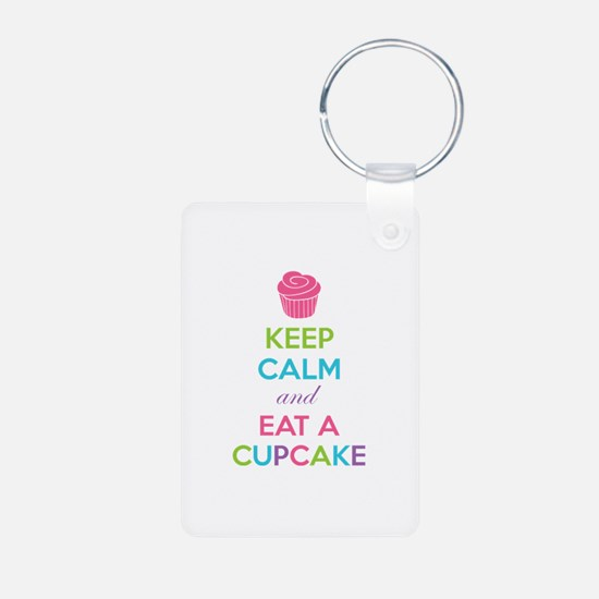 Keep calm and eat a cupcake Keychains