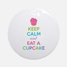 Keep calm and eat a cupcake Ornament (Round)