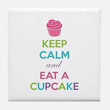 Keep calm and eat a cupcake Tile Coaster