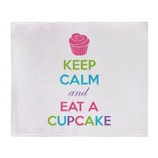 Keep calm and eat a cupcake Throw Blanket