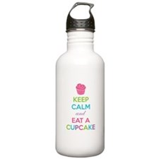 Keep calm and eat a cupcake Sports Water Bottle