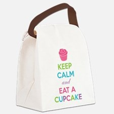 Keep calm and eat a cupcake Canvas Lunch Bag