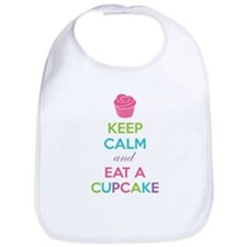 Keep calm and eat a cupcake Bib