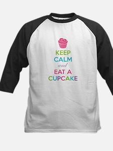Keep calm and eat a cupcake Kids Baseball Jersey