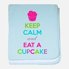Keep calm and eat a cupcake baby blanket