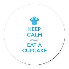 Keep calm and eat a cupcake Round Car Magnet