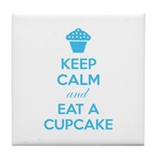 Keep calm and eat a cupcake Tile Coaster