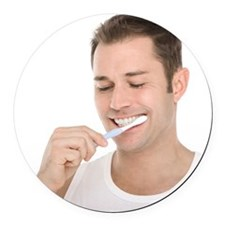 Dental hygiene - Round Car Magnet