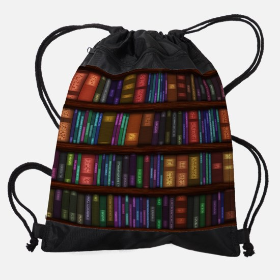 Old Bookshelves Drawstring Bag