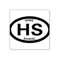 Homeschool 07 Oval Sticker