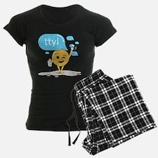 Emoji Smiley Face TTYL Pajamas