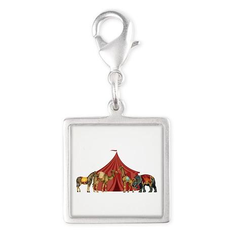 Circus Silver Square Charm