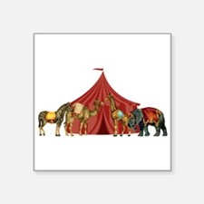 "Circus Square Sticker 3"" x 3"""
