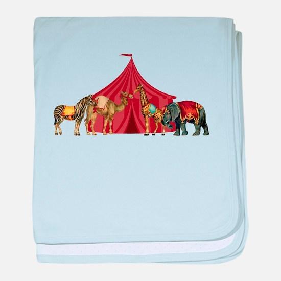 Circus baby blanket