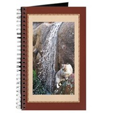 Cat in a Waterfall Journal (red)