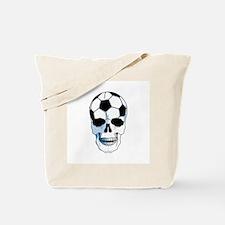 Hardcore Soccer Skull Tote Bag