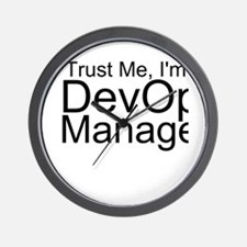 Trust Me, I'm A DevOps Manager Wall Clock