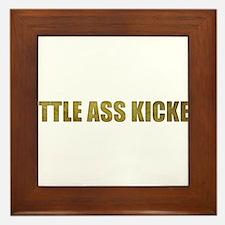 Little Ass Kicker Framed Tile