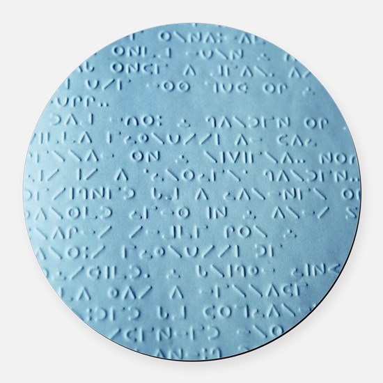 Moon braille - Round Car Magnet