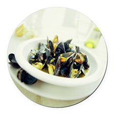 Mussels - Round Car Magnet
