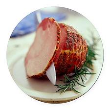 Sliced ham - Round Car Magnet