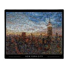 New York Mosaic Throw Blanket