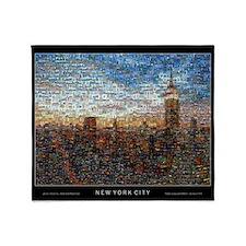 New York Mosaic Throw Blanket