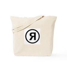 R Logo Tote Bag