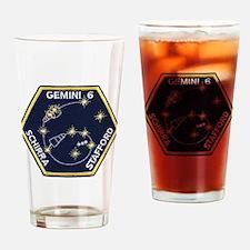 Gemini 6-Go Blue! Drinking Glass