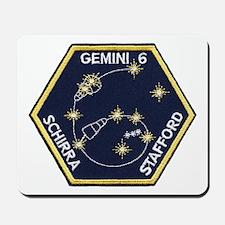 Gemini 6-Go Blue! Mousepad