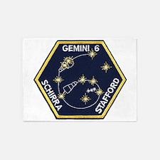 Gemini 6-Go Blue! 5'x7'Area Rug