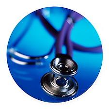 Stethoscope - Round Car Magnet