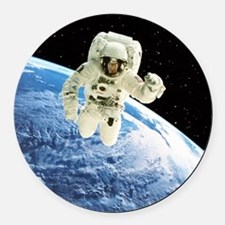 over Earth - Round Car Magnet