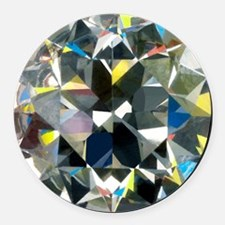 Cut and polished diamond - Round Car Magnet