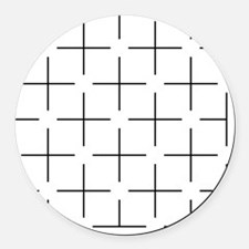 Ehrenstein illusion - Round Car Magnet