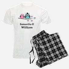 Personalized Bride Groom Owls Pajamas