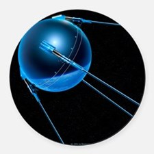 Sputnik 1 satellite - Round Car Magnet