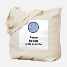 Peace begins with a smile Tote Bag
