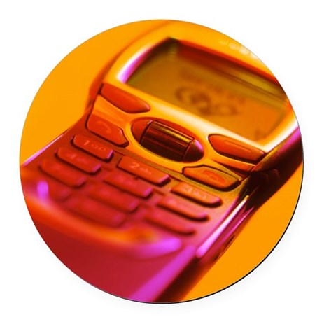 WAP mobile telephone - Round Car Magnet