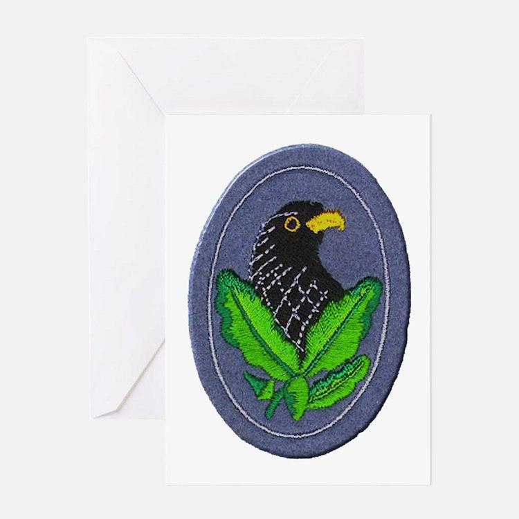 German Sniper Emblem Greeting Card