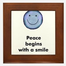Peace begins with a smile Framed Tile