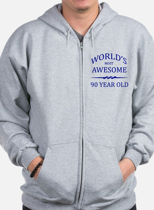 World's Most Awesome 90 Year Old Zip Hoodie