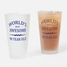 World's Most Awesome 90 Year Old Drinking Glass