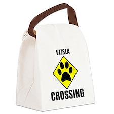 Vizsla Crossing Canvas Lunch Bag